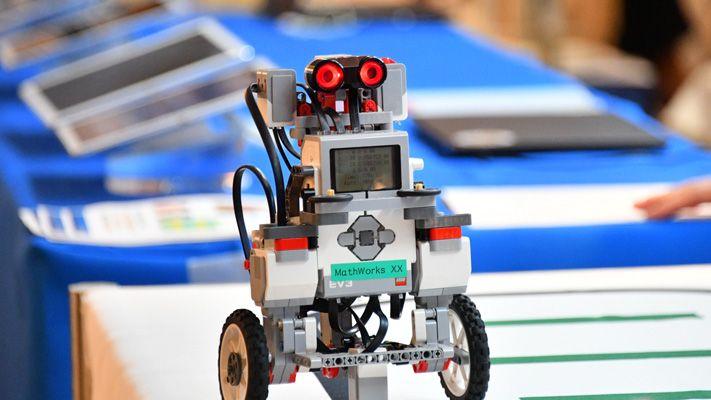 Puesto de demostración de robots