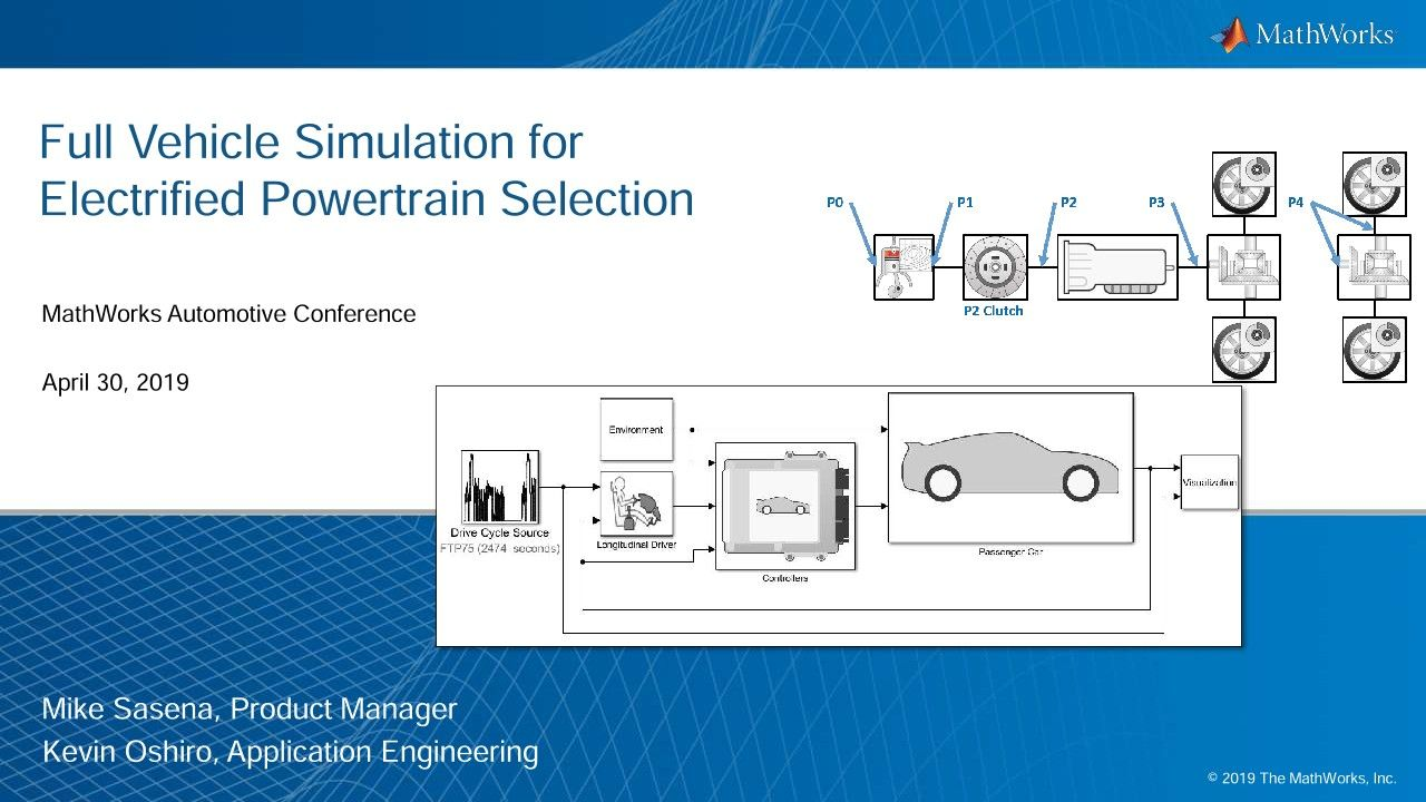 Full Vehicle Simulation for Electrified Powertrain Selection