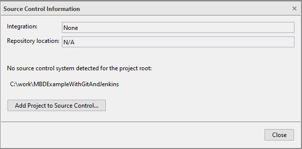 Add Project to Source Control
