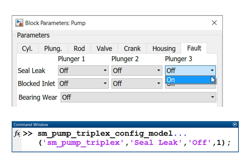 Figure 5. Modeling leakage in the triplex pump.