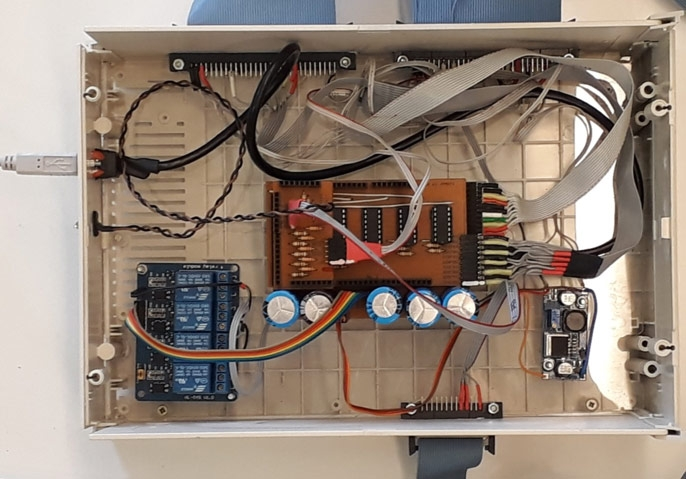 Figure 2. Control box with Arduino control board as well as a USB port and other I/O connectors.
