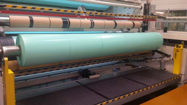 One of Mondi Gronau's plastic production machines, which deliver about 18 million tons of plastic and thin film products annually.