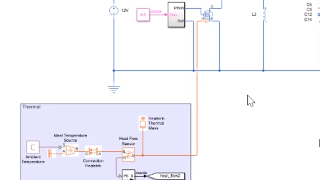 Learn how to use a simulation model of a DC-DC converter to determine power losses and simulate thermal behavior of the converter.