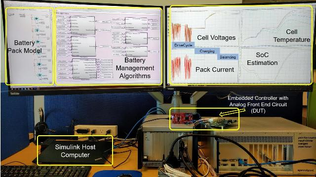 HIL simulation in the field of Battery Management Systems and control applications. validate and test BMS algorithms and controls applications before they are deployed on to the field.