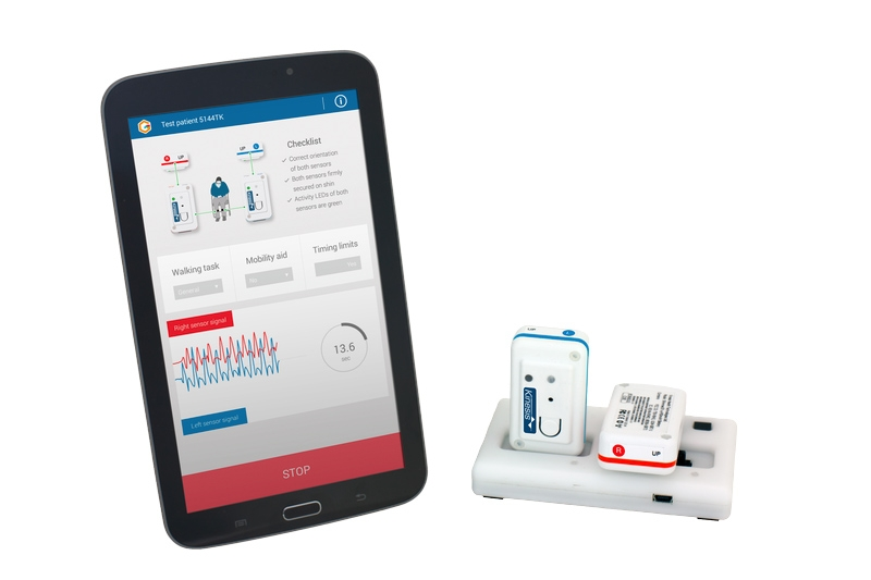 Figure 1. The Kinesis QTUG system with clinical software and sensors.