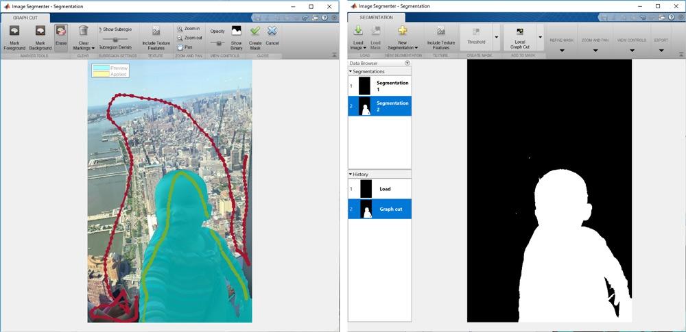 image segmenter app graph based segmentation.
