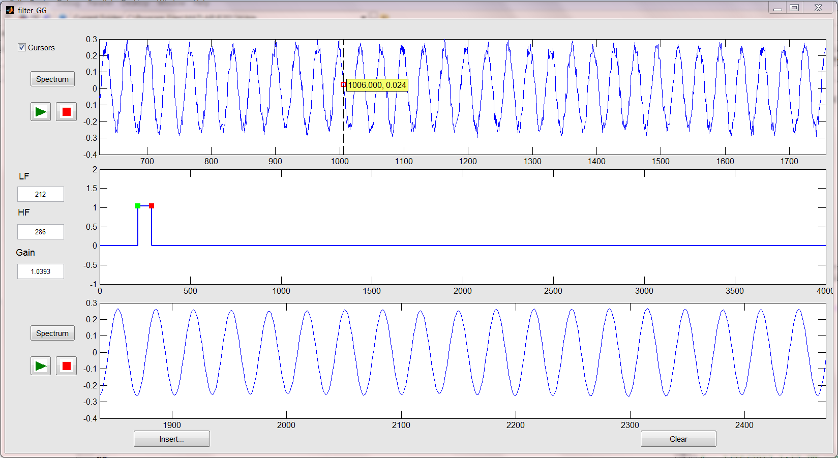 Dynamic Low, High and Band pass filter - File Exchange