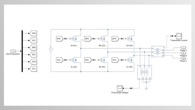 Learn how you can model a three-phase inverter using Simscape Electrical.
