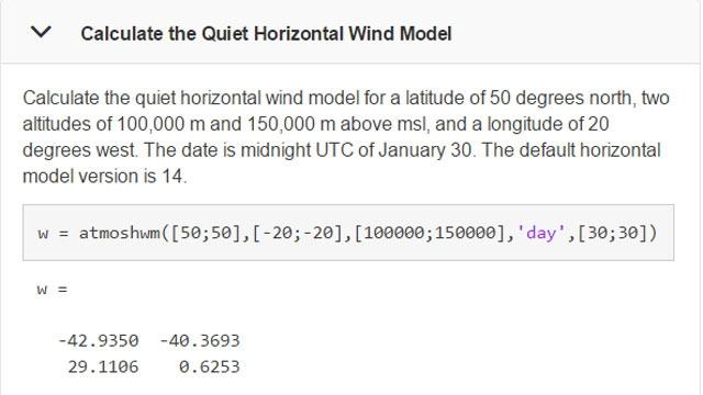 Ejemplo de uso de la función atmoshwm.