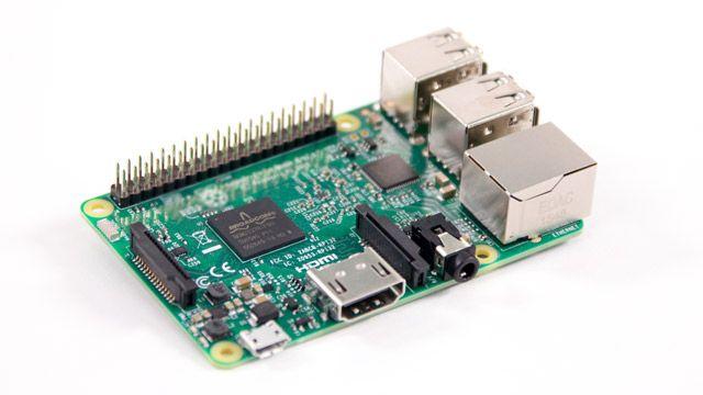 Placa Raspberry Pi.