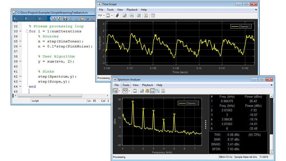 Procesamiento de señales de streaming en MATLAB
