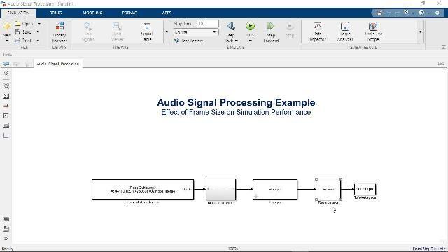 Aprenda a utilizar el procesamiento basado en cuadros en Simulink para acelerar las simulaciones de modelos e imitar el comportamiento de sistemas en tiempo real.