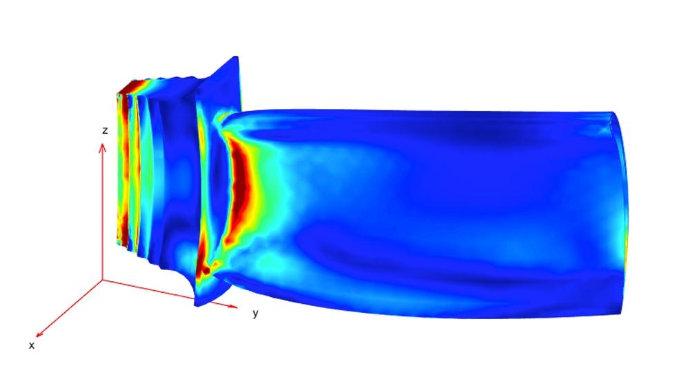 Distribución de la presión con cargas mecánicas y térmicas combinadas.