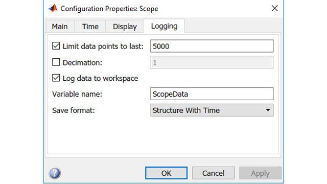 Configuración de los parámetros de alcance para el registro en el espacio de trabajo.