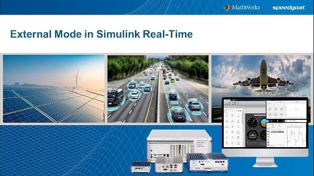 Learn how to create real-time applications in Simulink, deploy them to Speedgoat target computers, and interact with the applications directly from Simulink.