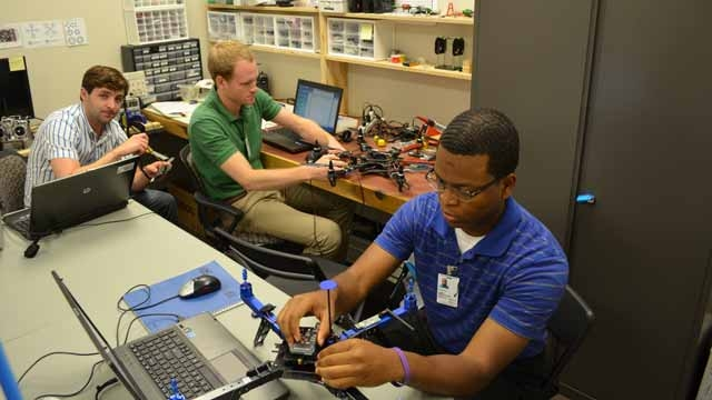 NASA Interns Develop Guidance, Navigation, and Control Software for Quadcopter with Model-Based Design