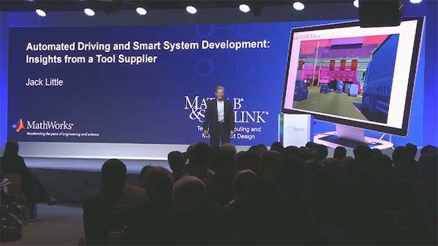 Escuche la charla de Jack Little, presidente y cofundador de MathWorks, en la conferencia Bosch Connected World 2018 sobre herramientas y procesos para desarrollar sistemas de automoción de alta fiabilidad con mayor autonomía.
