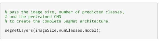 Segmentación semántica - Código para crear la arquitectura SegNet