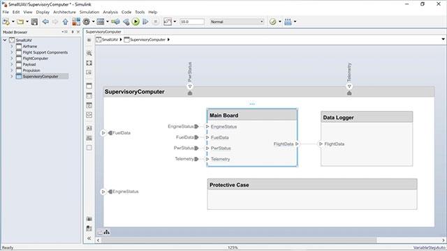 Vea cómo crear un modelo de comportamiento de Simulink a partir de un componente de System Composer y cómo crear un componente de System Composer a partir de un modelo de Simulink existente.