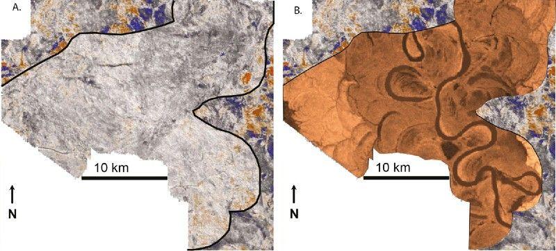 Imágenes de sismógrafo original y mejorada