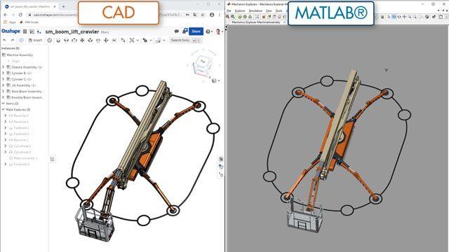 Elevadora de brazo: importación de CAD