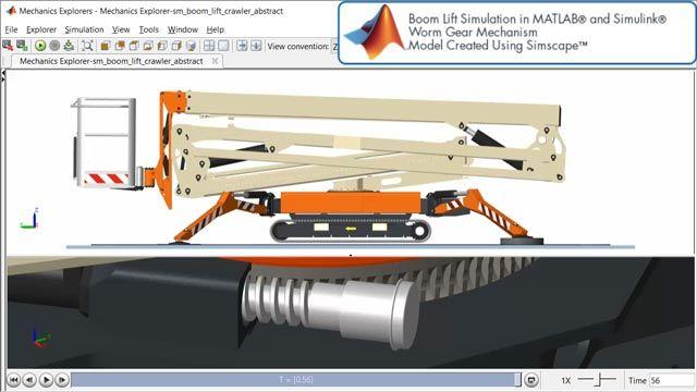 Elevadora de brazo: mecanismo de engranaje helicoidal