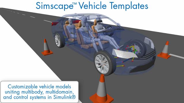 Descubra cómo las plantillas de vehículos de Simscape proporcionan un modelo de vehículo personalizable que puede utilizar para una amplia gama de tareas de diseño de vehículos.