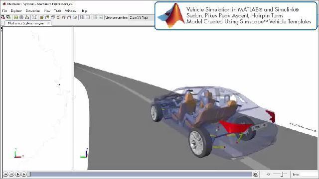 Vea la animación de una simulación de un diseño de propulsión con Simscape.