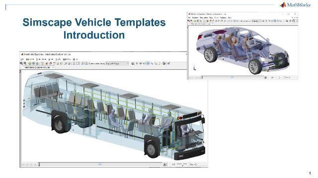 Vea una introducción a las plantillas de vehículos de Simscape. Las plantillas proporcionan un modelo configurable del vehículo, una librería de componentes personalizables y una interfaz de usuario para personalizar el vehículo y el evento que desea ejecutar.