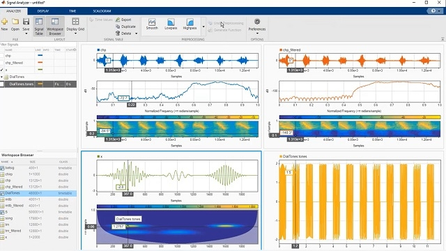 This webinar teachs how to easily perform signal analysis and signal processing tasks with MATLAB. You will learn techniques for visualizing and measuring signals in time and frequency domains, spectral analysis, and designing FIR and IIR filters.