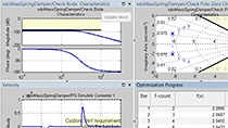 Use custom objectives and frequency-domain optimization to optimize the ride quality of a suspension system.